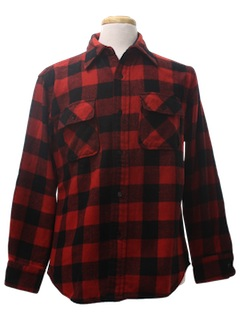 1970's Mens Flannel Wool Shirt