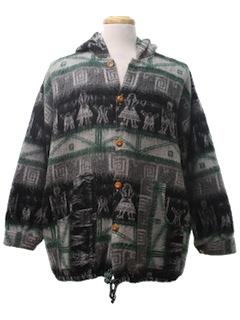 1980's Mens Guatemalan Style Hippie Jacket
