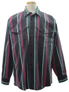 1980's Mens Extra Long Tails Western Shirt