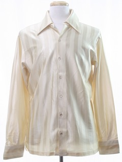 1970's Mens Shiny Disco Shirt