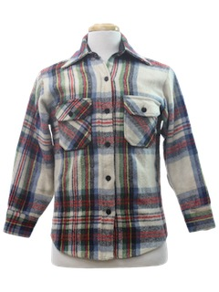 1980's Mens Wool Shirt