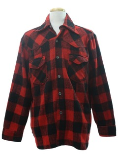 1970's Mens Western Inspired Flannel Shirt