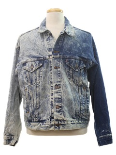 1980's Mens Acid Washed Grunge Denim Jacket
