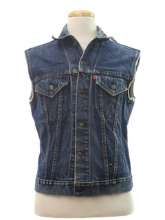 1970's Mens Grunge Denim Vest