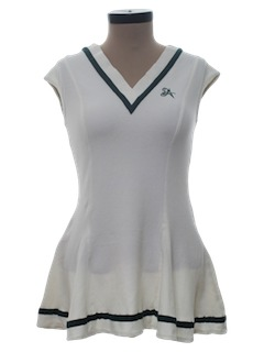 1980's Womens Knit Tennis Dress