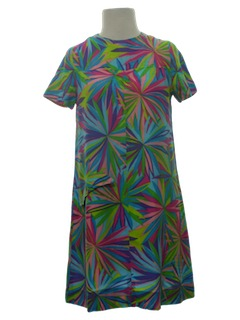 1960's Womens Mod Mini Hippie Dress