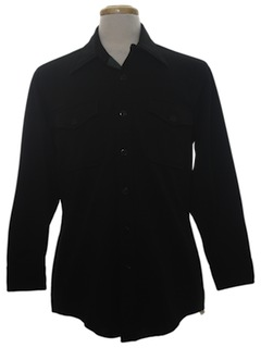 1970's Mens CPO Style Knit Shirt Jacket