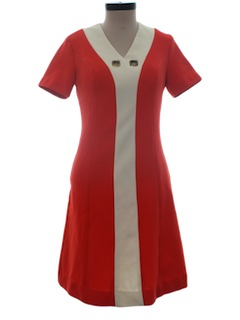 1960's Womens Mod Mini Knit Dress