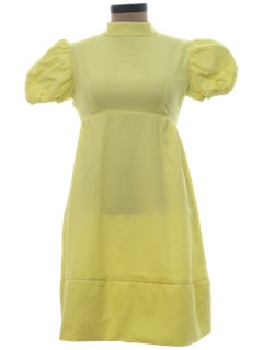 1970's Womens Baby Doll Mini Dress