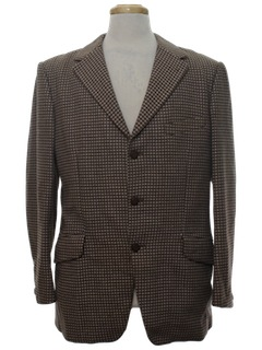 1960's Mens Blazer Style Sport Coat Jacket