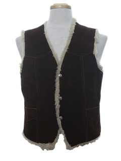 1970's Mens Western Leather Vest