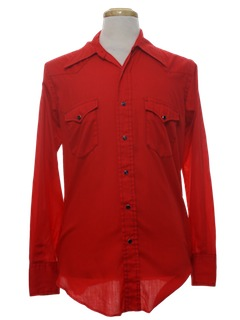 1970's Mens Solid Western Shirt