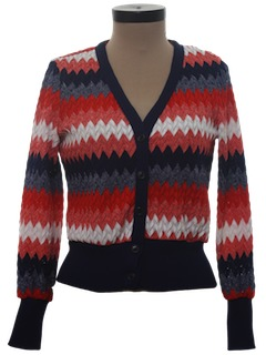 1970's Womens Mod Cardigan Sweater