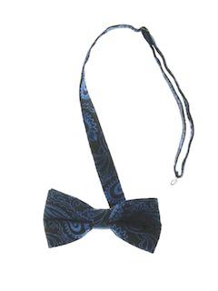 1980's Mens Totally 80s Tuxedo Bowtie Necktie