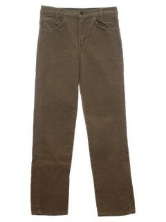 1980's Mens/Boys Jeans-Cut Corduroy Pants