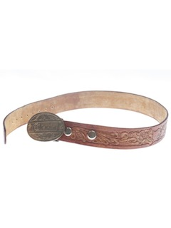 1970's Womens Accessories - Leather Western Belt