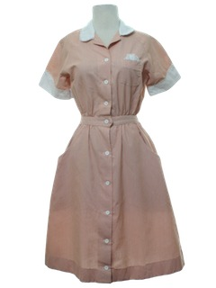 1980's Womens Totally 80s Uniform Dress