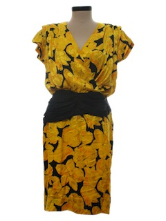 1980's Womens Totally 80s Evening/Cocktail Dress