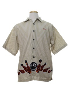1990's Mens Wicked 90s Bowling Shirt