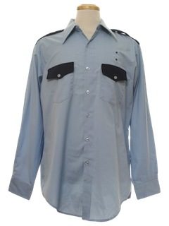1970's Mens Uniform Work Shirt