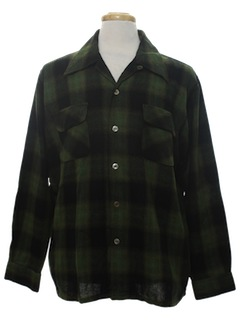 1960's Mens Wool Shirt
