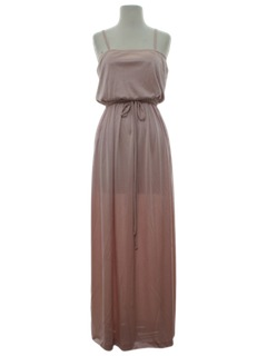 1970's Womens Maxi Disco Cocktail Dress