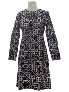 1960's Womens Mod Day Dress