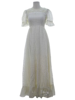 1960's Womens Prom/Cocktail Or Wedding Maxi Dress