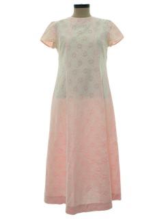 1970's Womens A-line Prom Dress