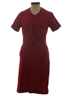 1950's Womens Wool Fab Fifties New Look Wiggle Dress