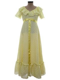 1970's Womens Prom Dress