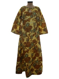 1960's Womens Caftan Dress