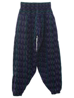 1980's Unisex Totally 80s Guatemalan Print Baggy Pants