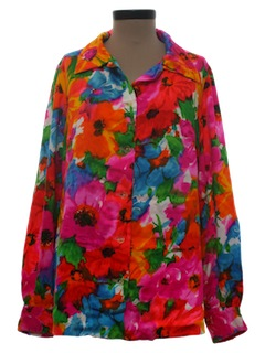 1970's Womens Hawaiian Style Hippie Shirt