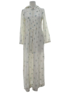 1970's Womens Flared Hippie Dress
