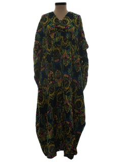 1960's Womens Caftan Hippie Dress