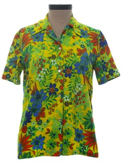 1960's Womens Hawaiian Shirt