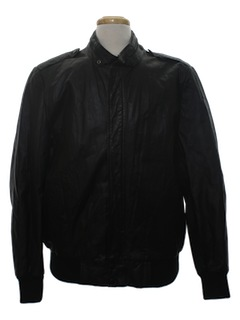 1980's Mens Leather Totally 80s Members Only Style Jacket