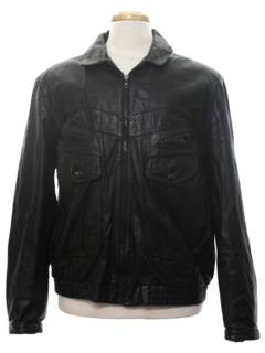 1980's Mens Leather Totally 80s Motorcycle Style Biker Jacket