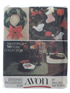 1980's Christmas Craft Pattern