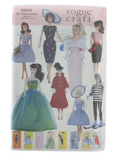 1990's Craft Doll Pattern