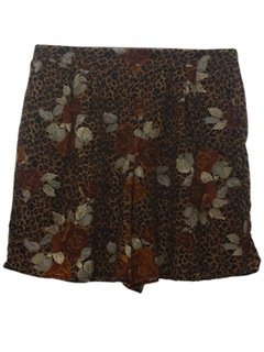 1990's Womens Wicked 90s Animal Print Wide Leg Shorts