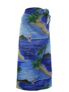 1980's Womens Hawaiian Swimwear Cover-up, Dress or Skirt.