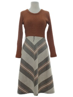1970's Womens Flared Dress