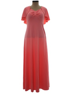 1970's Womens Flared Prom Dress