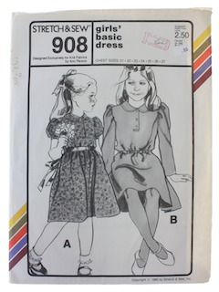 1980's Womens Girls Pattern