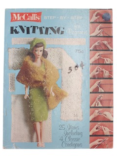 1960's Craft Knitting Pattern Book