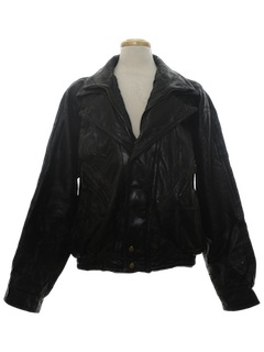 1980's Mens Leather Motorcycle Jacket