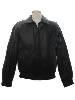 1990's Mens Leather Bomber Jacket