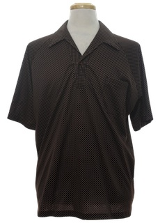 1980's Mens Resort Wear Style Print Disco Shirt